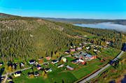 aerial photo, aerial pictures, autumn, drone aerial, farms, landscapes, North Bothnia, samhällen, Svanstein