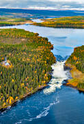 aerial photo, aerial pictures, are river, attraction, attractions, drone aerial, fall, Indal river, Jamtland, landscapes, stream, tannforsen, tourism, tourist goal, Tännsjön, vatten, water fall