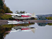 aeroplane, aviation, camping, communications, fly, seaplane, seaplane, Super Cub, tent, Vindel river