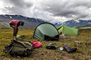 alpine, alpine hiking, alpine landscape, back-packing, camping, landscapes, Lapland, Laponia, lägerliv, mountain, mountain peaks, mountain top, mountains, outdoor life, pitch, Sarek, Sarek nationalpark, Sarekfjäll, sommarfjäll, sport, summer, tent, tent camp, tenting, tältslagning