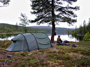 alpine hiking, camping, Little Leaf Lake, outdoor life, summer, tent, tenting, wild-life, äventyr