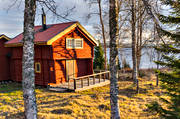 autumn, buildings, cabins, cottage, Jamtland, log-cabin, timber cabin