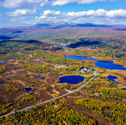 aerial photos, aerial picture, aerial pictures, Aleb Luovio, autumn, cottage village, chalet complex, flygbilder, installations, landscapes, Lapland, mountain pictures, Tjarnberg, Tjidtjak, värdshus