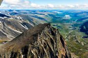 aerial photo, aerial photos, drone aerial, Kebnekaise, Ladtjovagge, landscapes, Lapland, summer, Tolpagorni