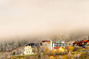 Are, autumn, buildings, cloud, hotell, installations, Jamtland, Tott hotell
