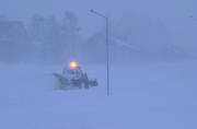 communications, land communication, snow, snow storm, snow-blower, snowfall, snowstorm, tractor, traffic, vehicular traffic, winter