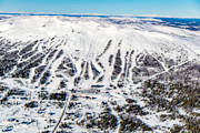 aerial photo, drone aerial, installations, Jamtland, journeys down, landscapes, ski resort, ski resort, ski slopes, Trillevallen, winter