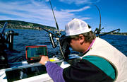 angling, echo-sounder, echograph, sonar, fishing, Great Lake, trolling, trolling boat