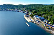 aerial photo, aerial pictures, Angermanland, drone aerial, installations, landscapes, northern, samhällen, summer, Ulvö port, Ulvöarna, Ulvön