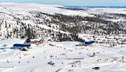 aerial photo, aerial pictures, drone aerial, Herjedalen, installations, ski resort, ski resort, ski slopes, Vemdalsskalet, winter