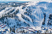 aerial photo, aerial pictures, drone aerial, Herjedalen, Hovde, installations, ski resort, ski resort, ski slopes, Vemdalsskalet, winter