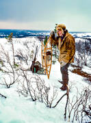 hunting, rackets, snowshoes, snow shoes, trapper, trapping, white grouse hunt, white grouse trap, winter