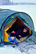 angling, camping, fishing, ice fishing, ice fishing, Lockne lake, Musviken, smäling, Stefan, tent, whitefish, whitefish fishery, winter fishing