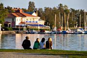 boat harbour, culture, harbour, Ostersund, playtime, present time, small-boat harbour, summer, youngsters